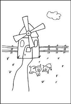 ausmalbilder, malvorlagen - windmühle kostenlos zum ausdrucken | märchen aus aller welt, der