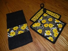 Sewing: Potholders and Dish Towel