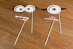 Minion Party Photo Props  Set of 2 by FestivaPartyDesign on Etsy, $15.00