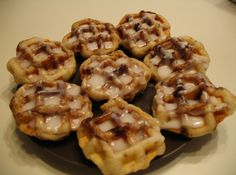 Cinnamon rolls in the waffle iron? Genius!