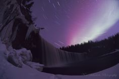 Star Trail with Aurora at Lady Evelyn Falls by Nori Sakamoto 18 Mar 2012.
