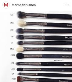 Cat: What are your favourite eye brushes from Morphe Brushes? - Cat: What are your favourite eye brushes from Morphe Brushes? Makeup Dupes, Makeup Kit, Makeup Brush Set, Makeup Inspo, Makeup Products, Makeup Geek, Makeup Ideas, Mac Makeup Brushes, Makeup Morphe