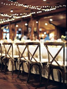 reception chairs - photo by Cassidy Brooke http://ruffledblog.com/mountain-wedding-in-colorado