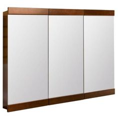 Glacier Bay 36 in. x 29 in. Tri-view Surface-Mount Medicine Cabinet in Java-TB36-JAV - The Home Depot
