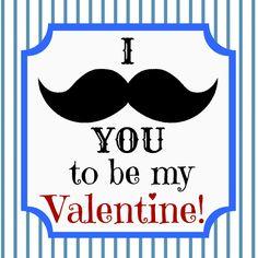 Mustache Valentines.  I'd add mustache chocolate lollipops