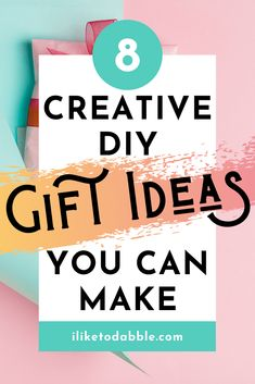 Use these gift ideas that you can DIY for your next special occassion #giftideas #giftguide #diy
