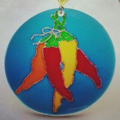 Mandala Pimenta 12cm - vidro Www.capembas.com.br/catalogo/