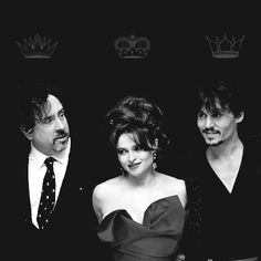 Tim Burton, Helena Bonham Carter and Johnny Depp. °