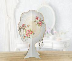 Jewelry Holder | Earring Tree | Earring Organizer | Jewelry Storage - Storage and organization - Shabby Chic Decor