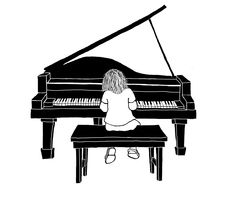 Grand Piano Sketch | ... new business teaching piano and asked if i d like to give a shot