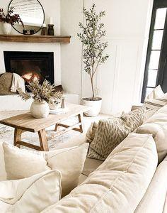Cottage Living Rooms, Living Room White, Boho Living Room, White Rooms, Small Living, Apartment Living, Living Room Couches, Neutral Living Rooms, Modern Living Room Design