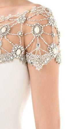 Wedding Wednesday: Embellished Sleeves