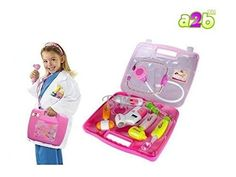 Enlighten your child as you get them this innovative doctor set. If your kids are searching for something new and exciting, gift them this doctor play set to Doctor Play Set, Doctor Light, Kits For Kids, Sound Effects, Battery Operated, Your Child, Kids Toys, Lunch Box, Games