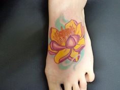 lotus flower done at Classic Tattoo by Anali De Laney