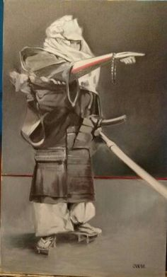 Here's the final painting (oil on canvas) of Yamabushi.