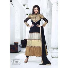 Shilpa Shetty Black Georgette Anarkali Suits
