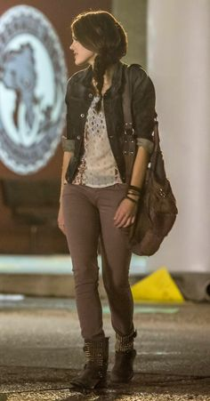 "Emery Whitehill wears a G-Star RAW Attacc Denim Jacket with an Ecote Blue Sparrow Tee and Ash Trash Studded Boots on Star-Crossed ""And Left No Friendly Drop"". Shop it: http://www.pradux.com/tv/star-crossed/season/1/episode/4"