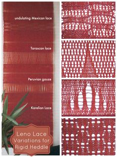Learn these fancy leno lace variations while weaving a gorgeous, airy wall hanging on your rigid heddle.