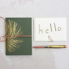 A green and Gold hello to Friday - lots to get done today!  #lonetreehq #stationery #papergoods #stationeryaddict #goldfoil