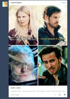 2.04 / 4.22- We all despaired with Hook as the Darkness swallowed her up, her eyes never leaving his face.  I'll be sobbing in the corner now....