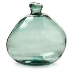 Vase Brenna vert - Kave Home Glass Floor Vase, Floor Vase Decor, Grand Vase En Verre, Vase Design, Vases For Sale, Glass Pumpkins, Paperclay, Bottle Vase, Stone Painting