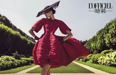 Paris Immortal Elegance - Haute Couture 2014: Sui He for L'Officiel China September 2014 by Chen Man