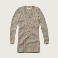 Oatmeal Cable Sweater Dress Abercrombie
