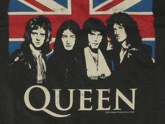 Queen General Knowledge Image detail for -Queen Union Jack TShirt – Queen T Shirts Band John Deacon, Hard Rock, Queen Band, Rock Posters, Band Posters, Vintage Rock, Vintage Music, Pop Rocks, Rock Festival