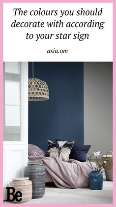 To perfect your decorating skills use colours that match to your star sign. #homecrush #decor #diy