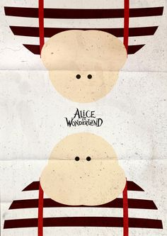 Alice in Wonderland (2010) ~ Minimal Movie Poster by Pgsqueallove Street #amusementphile