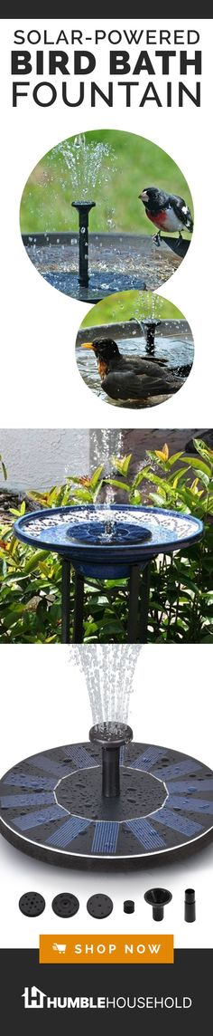 Smartgarden Solar Powered Bird Bath Fountain Kit The Solar Bird Bath Fountain Can Be Used Anywhere And Runs Off Solar Power This Means No Maintenance Ugly Wires Or Set Up Making It Perfect For Any Backyard Garden Or Home This Spring And Summer Home Design Diy, New Home Designs, Design Ideas, Garden Yard Ideas, Backyard Garden Design, Garden Projects, Indoor Garden, Backyard Ideas, Bird Bath Fountain
