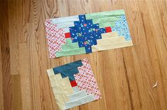 a quilt is nice: wip wednesday--courthouse steps.