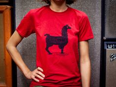 DELAY Llama T-Shirt designed  by JAM pedals - Original Artwork for true JAM aficionados - Design tshirt For Women, Men & Children by JAMShirtsShop on Etsy