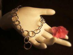 Classic and Elegant - Sterling Silver Soldered Links Bracelet -. $80.00, via Etsy.