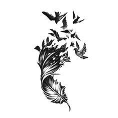 Tattoos With Birds, Rib Tattoos For Guys, Bird Tattoos For Women, Bird Tattoo Men, Rose Tattoos For Men, Tiny Tattoos For Girls, Head Tattoos, Sleeve Tattoos For Women, Feather With Birds Tattoo