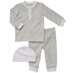 3-Piece Cotton Thermal Set | Baby Essentials Preemie