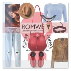 """""""Red Bag-romwe.com"""" by ilona-828 ❤ liked on Polyvore featuring Lavand., Dr. Martens, women's clothing, women's fashion, women, female, woman, misses, juniors and romwe"""