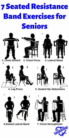 Chair Exercises, Balance Exercises, Back Exercises, Stretching Exercises For Seniors, Resistance Band Exercises, Stretch Band Exercises, Resistance Band Training, Fitness Workout For Women, Exercise & Fitness