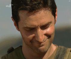 (gif) - Absolutely gorgeous Porter/Richard Armitage smile - the eyebrows and everything.... (screaming!) Thank you Ali! <3