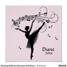 Amazing Ballerina Dancing with Music Pink Poster Dance All Day, Ballerina Dancing, Dance Photos, Easy Watercolor, Custom Posters, Custom Framing, Favorite Quotes, Vibrant, Creative