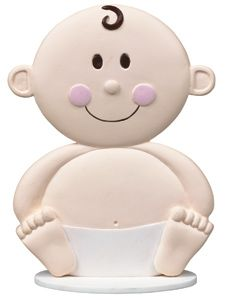 Oh-so-cute cake topper for the baby shower or first birthday cake.