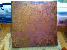 Tutorial using Ferro paste with good description of layers of paint to get depth Mixed Media Techniques, Art Techniques, Mixed Media Canvas, Mixed Media Art, Diy Wall Art, Diy Art, Gelli Plate Printing, Art Journal Tutorial, Cheap Art