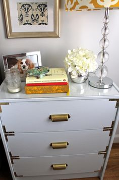 Nightstand decor on pinterest bedside tables how to - How to decorate a nightstand ...