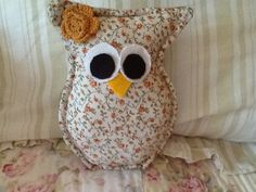 Small hand sewn owl pillow by DaphneDew on Etsy, $8.00 Possibly for Heather Frey?