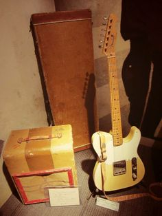 The Holy Grail - Luther Perkins' guitar and amp at the Johnny Cash Museum. Photo by Red Robot Design & Illustration.