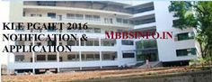 KLE PGAIET 2016 Application form and Notificationmbbsinfo