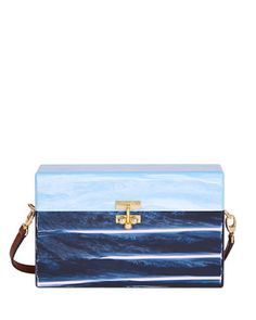 Half-and-Half+Large+Trunk+Bag,+Light+Blue+Marble+by+Edie+Parker+at+Bergdorf+Goodman.