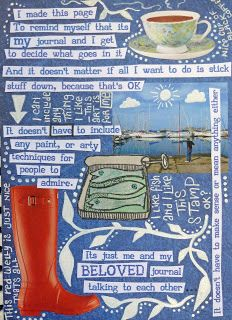 I so love the sentiments in this post along with the journal page. Rosie's Arty Stuff: Just for me ....