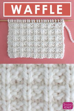 by Krikut Krikut Learn to knit the Waffle Stitch Pattern Easy for Beginning Knitters by Studio Knit with Video Tutorial Knitted Washcloth Patterns, Dishcloth Knitting Patterns, Knitting Stiches, Knit Dishcloth, Free Knitting, Baby Knitting, Loom Knitting, Finger Knitting, Knit Stitches
