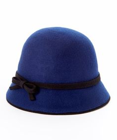 This Navy Bow Wool Cloche by Jeanne Simmons Accessories is perfect! #zulilyfinds